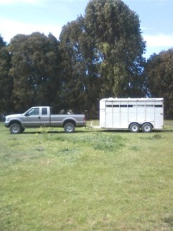 photo of my truck and trailer